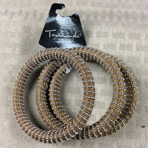 NWT 3 Tan and Silver Bracelets